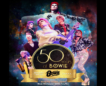 "Friday 25th January 20197.30pmFull price: £22.00All prices include booking feesAbsolute Bowie are proud to present a brand new stage show '50 Years of Bowie' - a musical journey through the iconic singer's ever changing personas.""Absolutely wicked. As one who was there, watching AB put me back there again. For anyone who missed it or fans who want to relive it I definitely recommend it. As close to the real thing that you'll get. Enjoy."" Woody Woodmansey (Spiders from Mars)."
