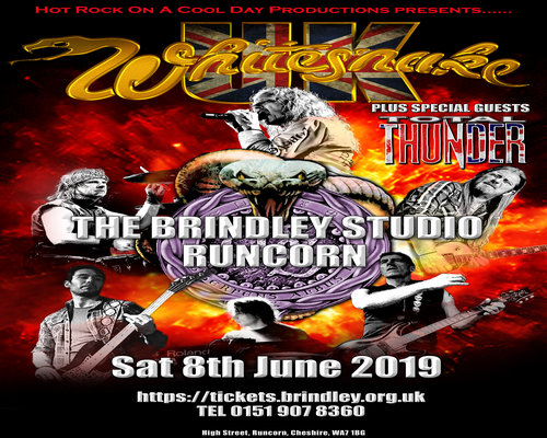 Saturday 8th June 20198pmFull price: £16.00All prices include booking feesSTANDING GIGWhitesnake UK play tribute to the very best of David Coverdale's multi platinum selling band, Whitesnake.