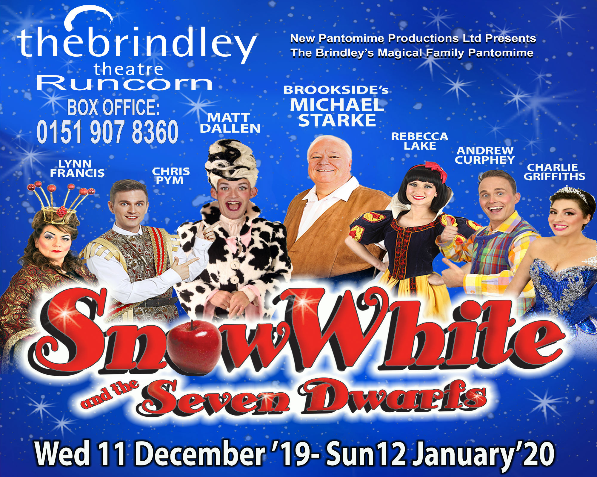 Wednesday 11 December until Sunday 12 January 2020Show times varyTickets from £18.00All prices include booking feesGroups 20 plus and Schools please contact the box office on 0151 907 8360