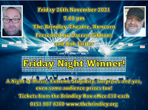 Friday 26th November 20217.00pmFull Price £12.00All prices include booking fees